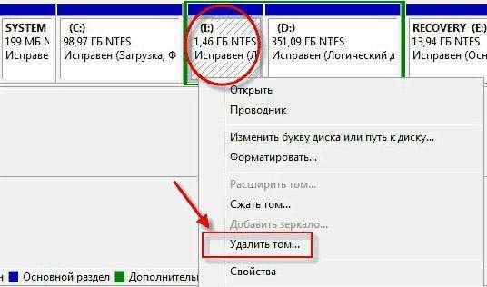 Як видалити розділи на флешці USB або карті памяті