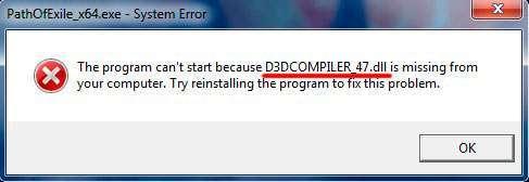 D3DCOMPILER_47.dll – що це за помилка, як виправити в Windows 7 8 10